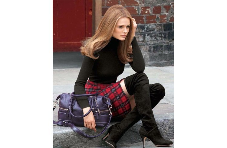 The knee boots with skirt