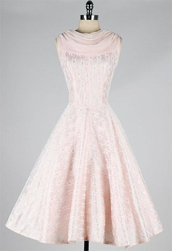 Pink chiffon daisy dress