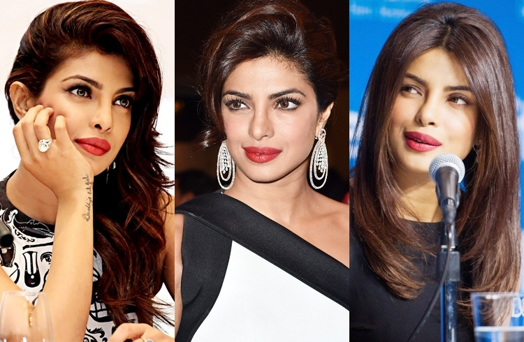 Priyanka Chopra Red Lips