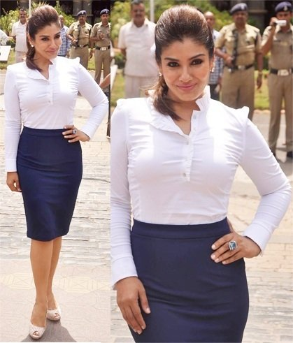 Raveena Tandon in Zara