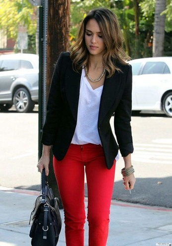 red denims for womens