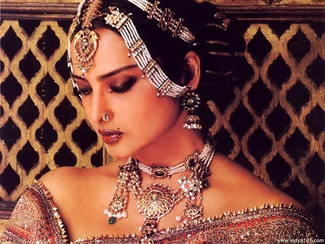 Rekha Sporting Statement Jewellery