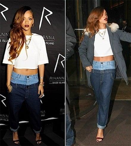Rihanna celebrity denimstyles