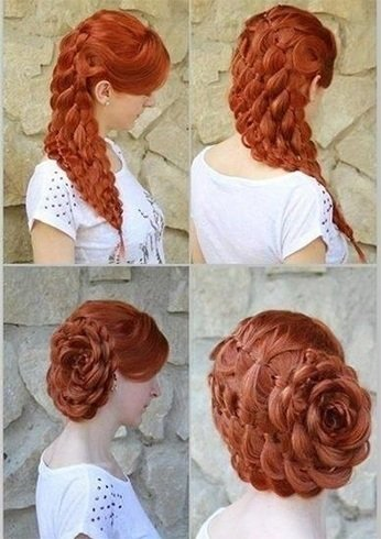 Rose Bud Hairstyle
