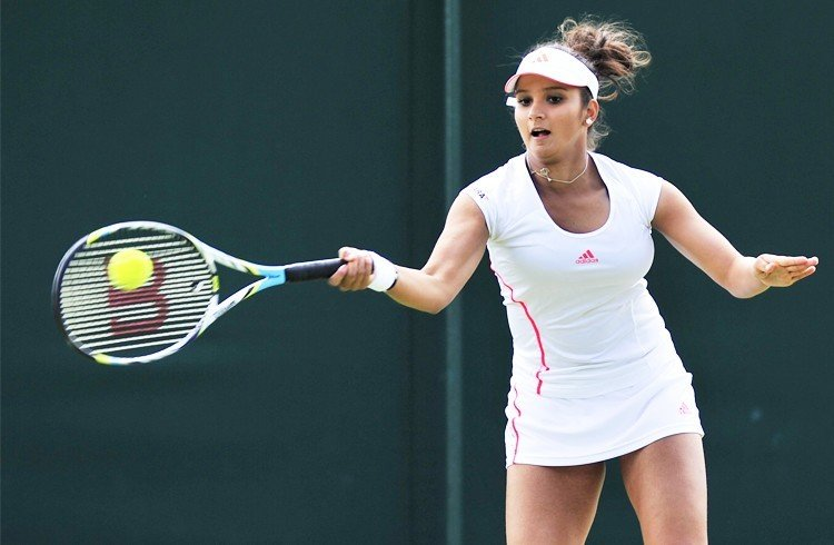 Sania Mirza in tennis dress