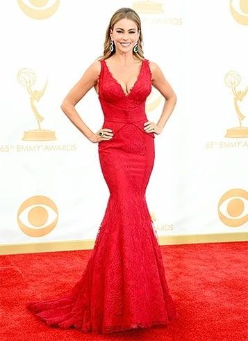 Sofia Vergara in red