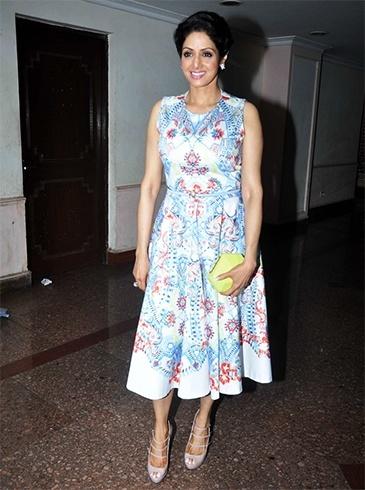 Sridevi dressing styles