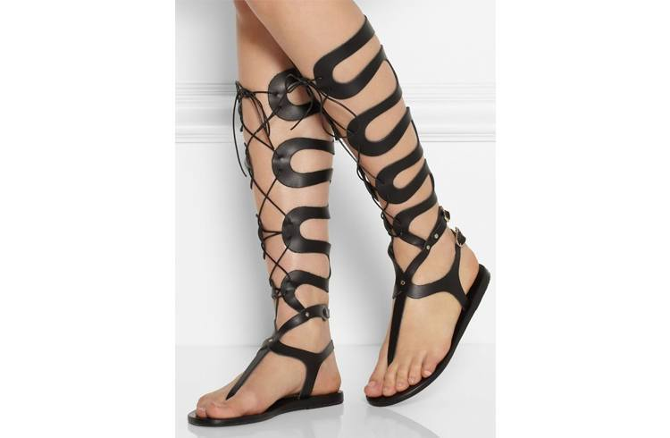 Summer Leather Gladiator Sandals