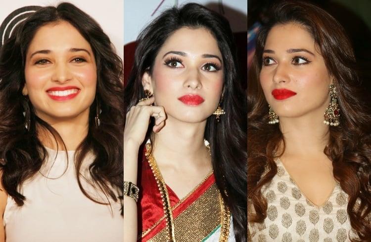 Tamannaah Bhatia's Red Lips