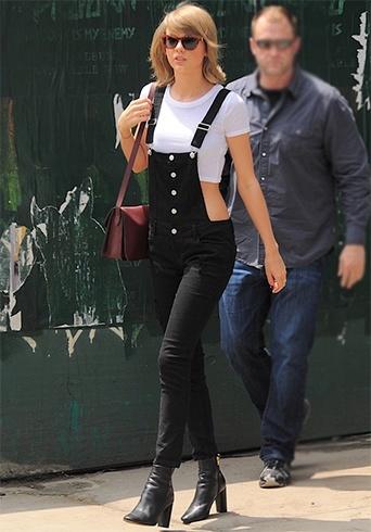 Taylor Swift in black denim