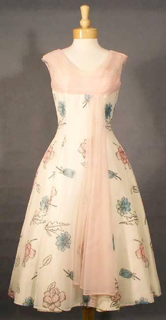 Vintage chiffon satin dress