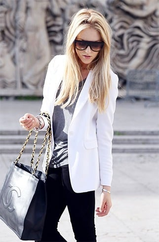 White blazer for women in 30