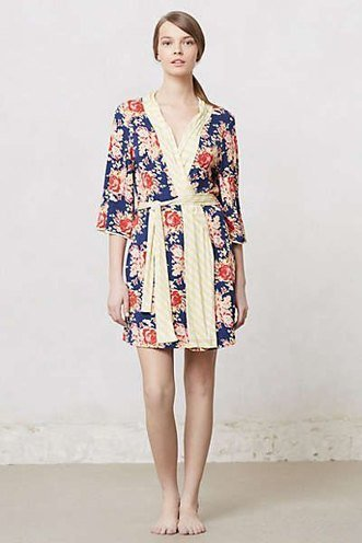 womens Blushed floral robes