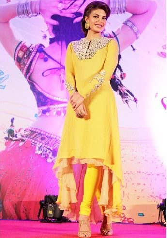 Yellow anarkali dress for eid