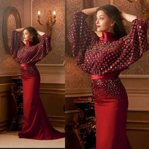 Aishwarya Rai Bachchan looking absolutely superb in George Shobeika gown for Hello India magazine