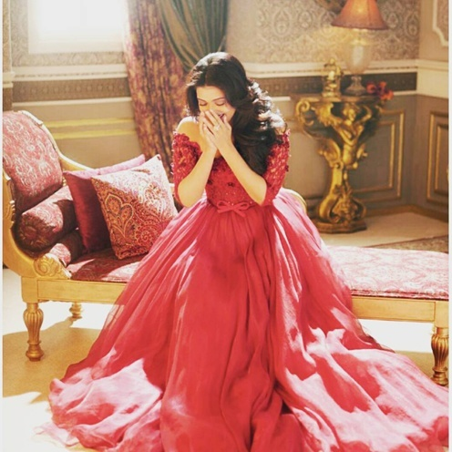 Aishwarya Rai George Shobeika gown in Hello India magazine