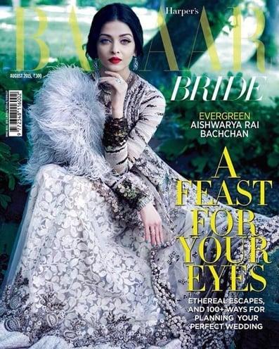 Aishwarya Rai on Bazaar Bride August 2015