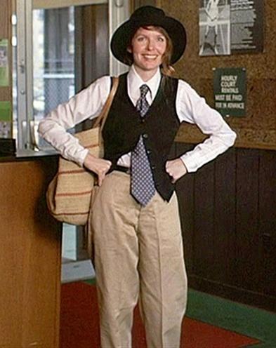 Diane Keaton baggy trousers