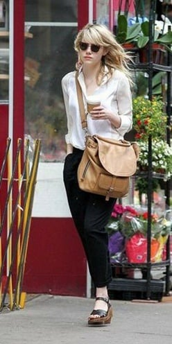 Emma Stone jeans look