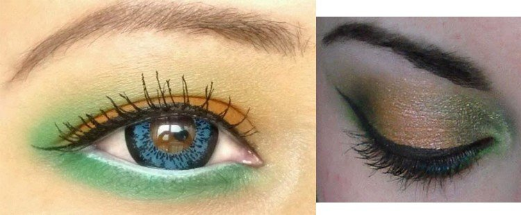 Eye makeup for Independence Day