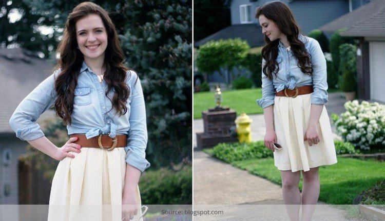 How to wear a wide belt