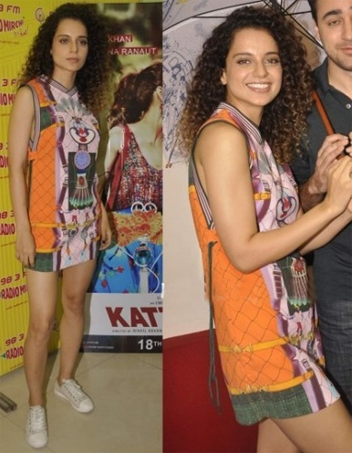 Kangana Ranaut orange dress by Adidas
