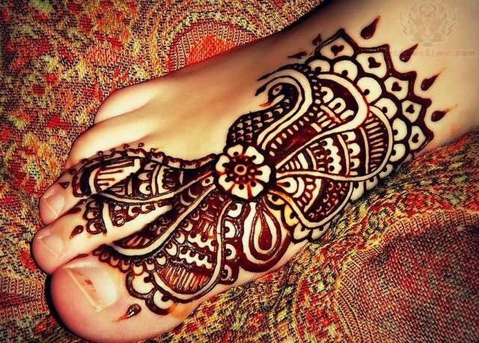 Feet Mehndi Designs