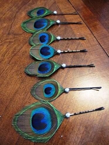 Peacock Bobby Pins