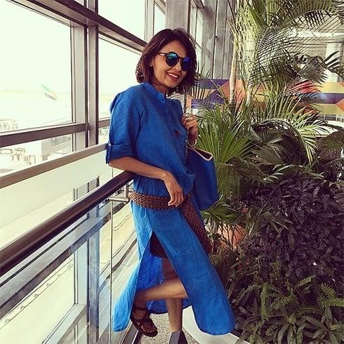 Asmita Marwa blue kurta