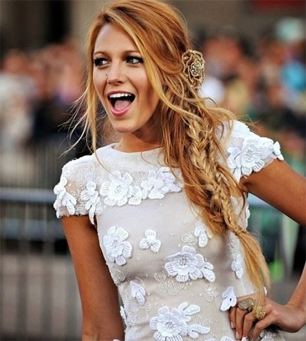 Blake Lively Half-Braid Hairstyles
