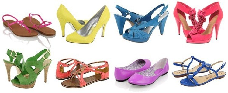 bright shoes for wide hips
