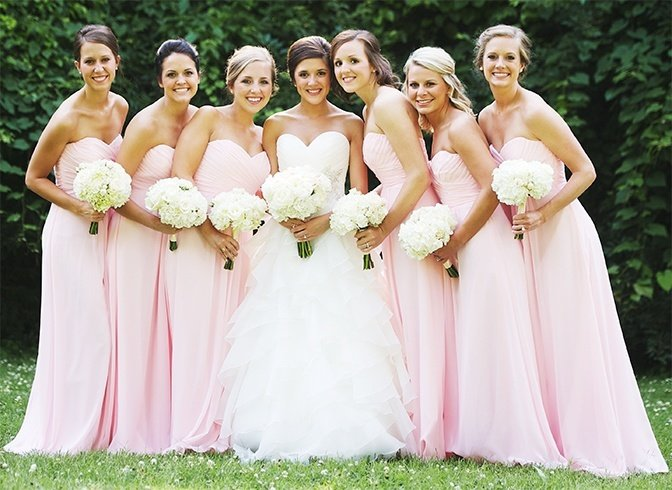 Christian Bride with Bridesmaids