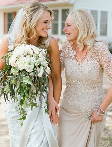 Christian Bride with Mother