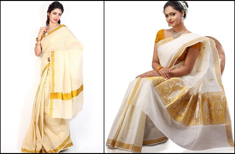 Colours of onam sarees