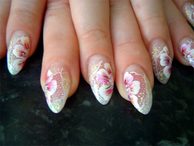 Cute Bridal Nail Art Designs