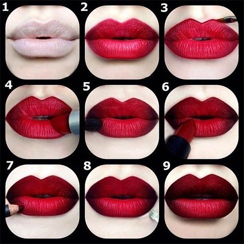 Dark lipstick shades tutorial