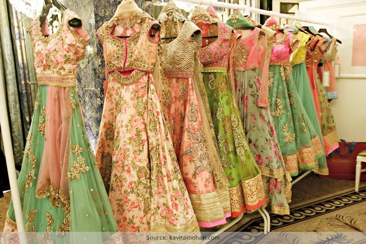 Designer Floral Lehengas For Weddings