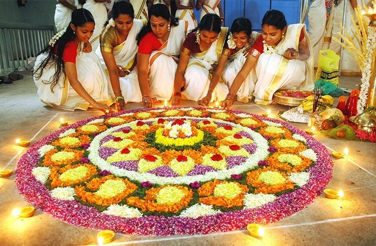 Designs of onam pookalam