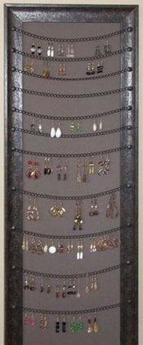 earring holder frame diy