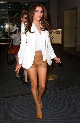 Eva in shorts