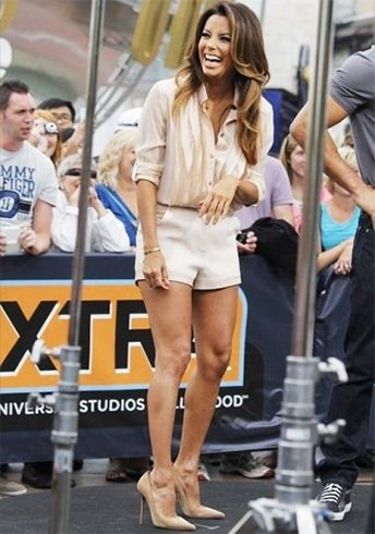 Eva Longoria in Shirt and Shorts