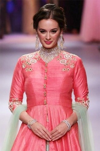 Evelyn Sharma for Avantika and Dhruv Singh