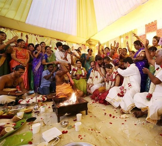 Family at South Indian Wedding