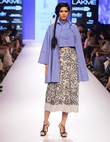 Floral prints skirt