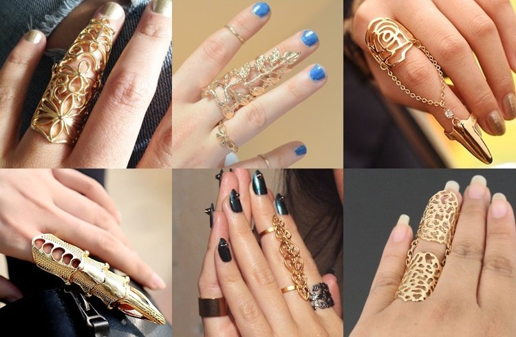 Full Finger Gold Rings for Women