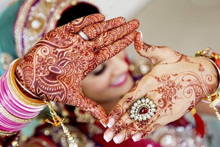 Mehndi Bride Poses : Hindu wedding photography poses beautiful for a