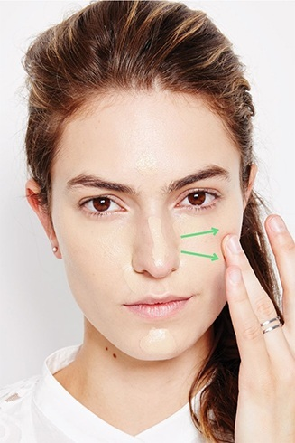Apply Foundation Using Fingers