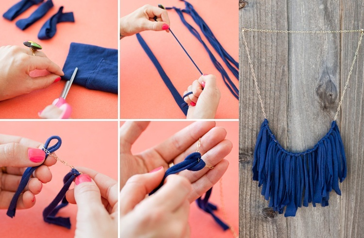 How to make a tshirt necklace