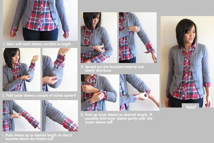 ways to roll up your sleeves