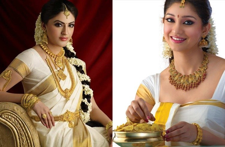 Jewellery for onam festival